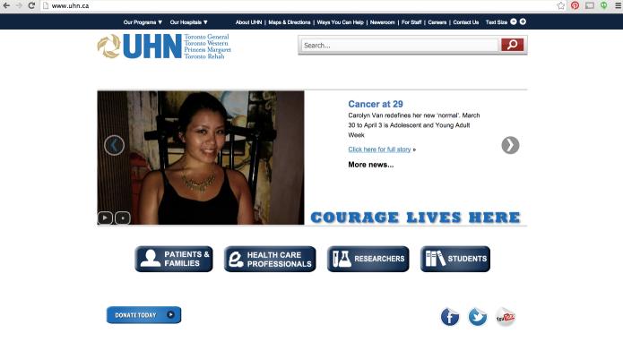 UHN Homepage